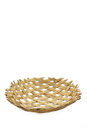 Palm Centerpiece Shallow Bowl