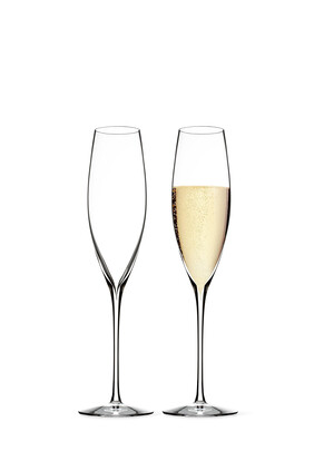 Elegance Crystal Champagne Classic Toasting Flutes Set of Two