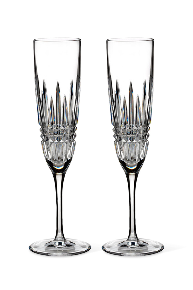Lismore Diamond Champagne Flutes Set Of Two image number 1