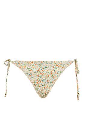 Floral String Bikini Bottoms