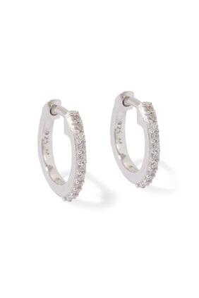 Pavé Huggie Hoop Earrings