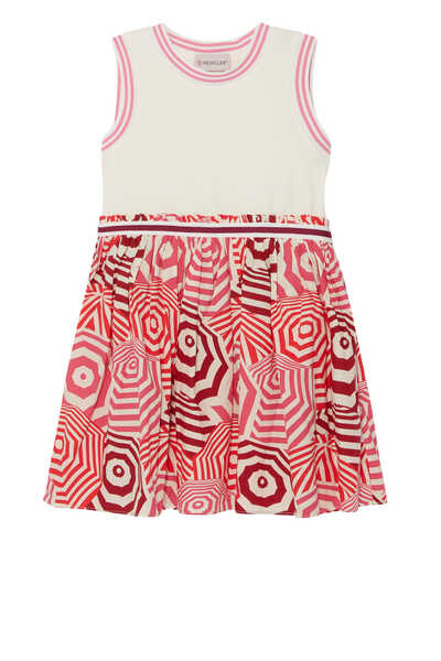 Jersey Umbrella Print Dress