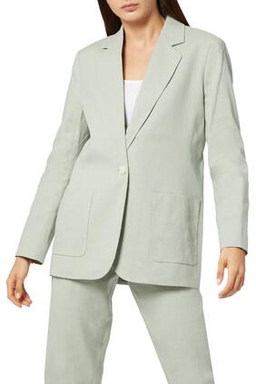 Linen Belted Blazer