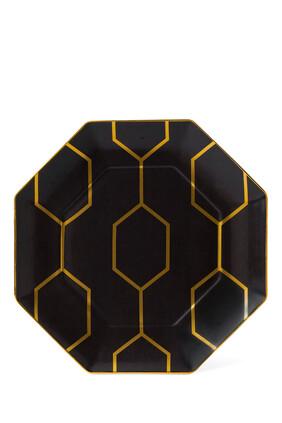 Arris Octagonal Charcoal 23 Plate