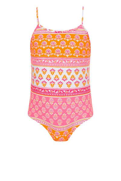 Block Print Swimsuit