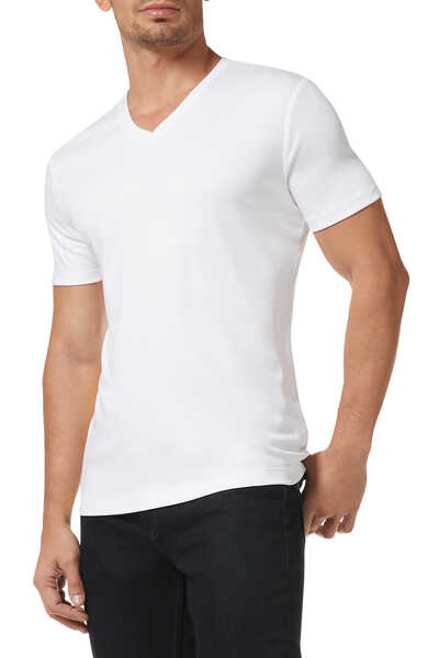 Luxury-Touch V-Neck T-Shirt
