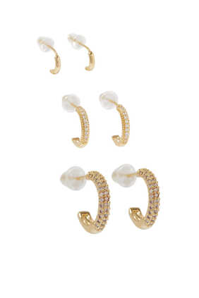Essentials Mini Pave Hoop Set