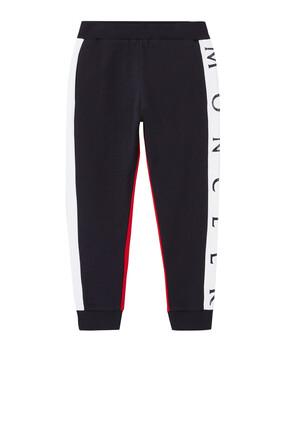Color Block Cotton Sweatpants