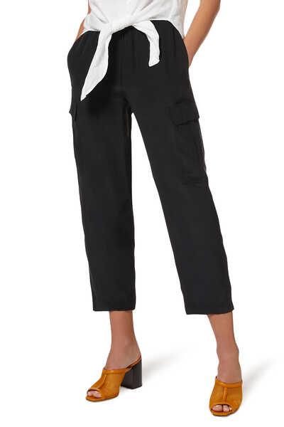 Utility Silk Cargo Pants