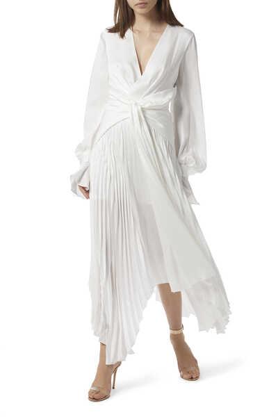 Empire Pleated Dress