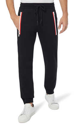 Cotton Fleece Zip Jogging Pants