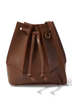 Canelé Drawstring leather Bag