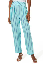 Pants in Striped Viscose Blend
