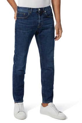 Denim Straight Leg Pants
