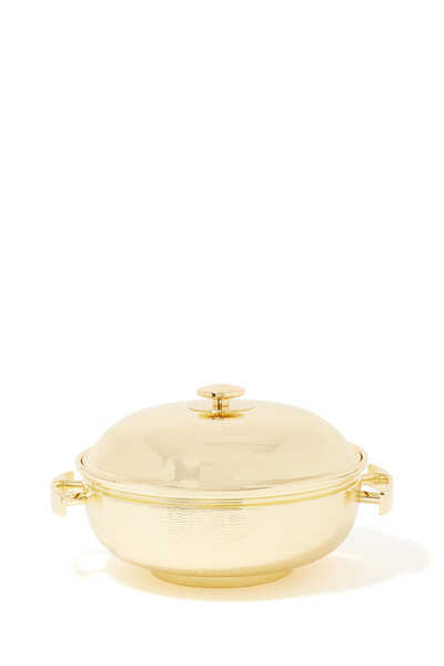 Round Brass Thermic Container