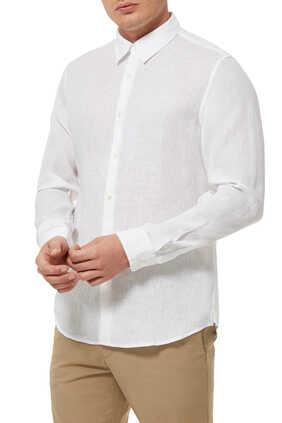 Irving Linen Long Sleeved Shirt