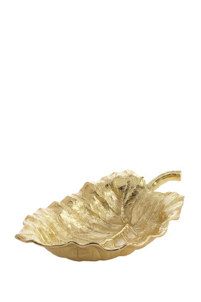 New Leaves Elephant Ear Large Serving Bowl