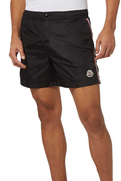 Striped Logo Swim Shorts