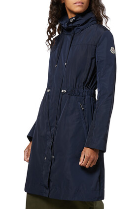 Malachite Long Hooded Jacket