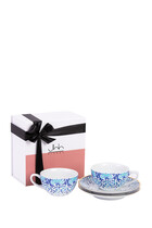 Mirrors Porcelain Teacups Gift Box Of 2