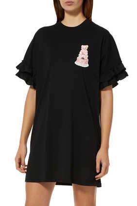 Cake Teddy Bear Ruffle Dress