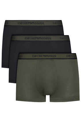 Logo Waistband Boxer Briefs Pack of Three