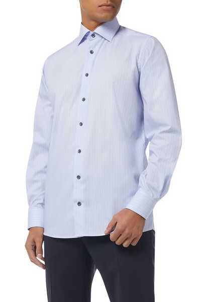 Contemporary Fit Stripe Print Shirt