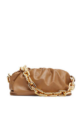 Chain Leather Pouch