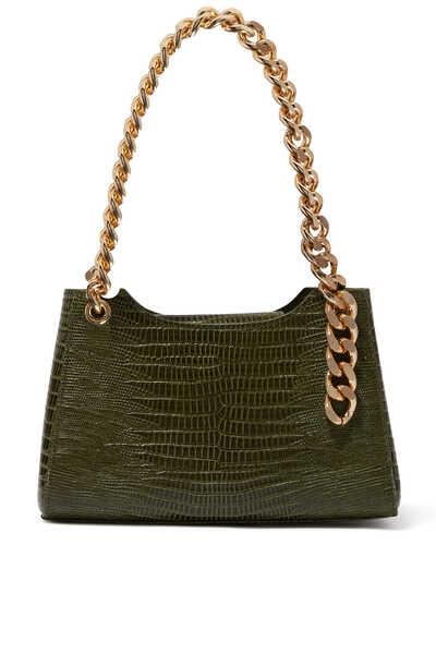 Liza Croc-Embossed Mini Bag