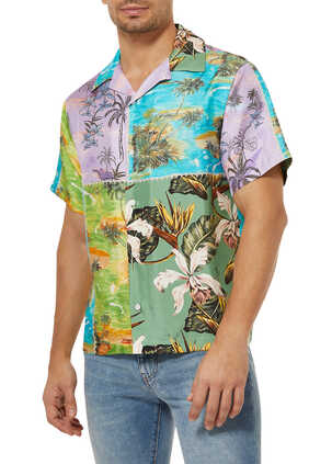 Hawaiian Patchwork Silk Shirt