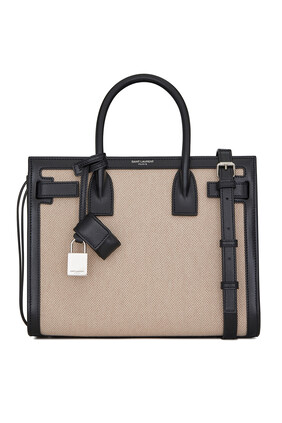 Sac De Jour Baby in Canvas and Smooth Leather