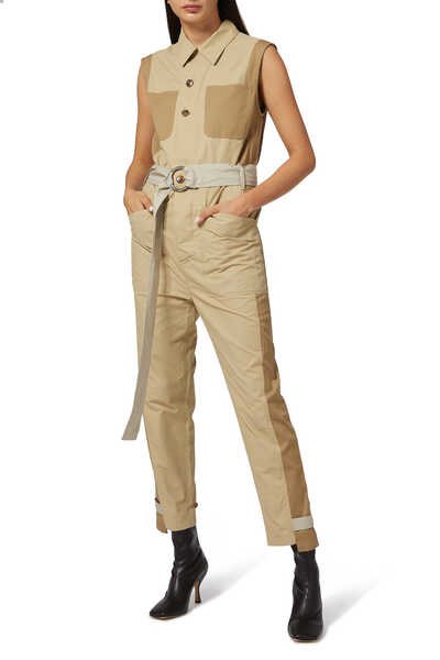 Block Color Jumpsuit