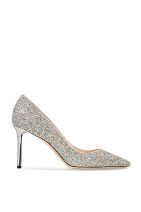 Romy Coarse Glitter Fabric Pumps