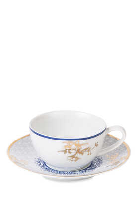 Kunooz Porcelain Teacup and Saucer Set