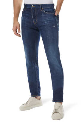 Dark Wash Slim Denim Jeans