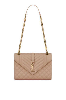 Enveloppe Medium Bag In Mix Matelassé Grain De Poudre Embossed Leather