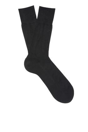 Black Silk Socks