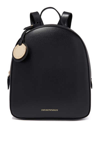 Charm Tag Leatherette Backpack
