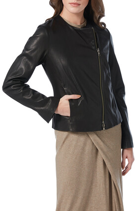 Leather Cross Fit Jacket