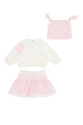 Cotton Top and Skirt Set