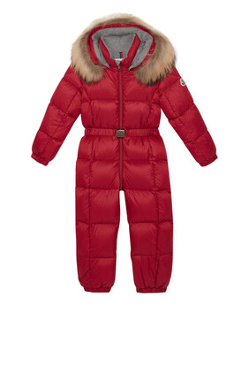 Fur-Trimmed Puffer Overall