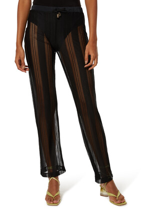 Knitted Mesh Pants
