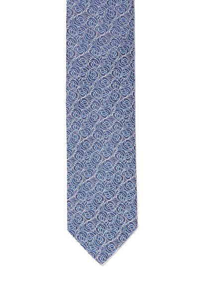 Rose Print Silk Tie