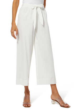 Vacation Cotton-Blend Culottes
