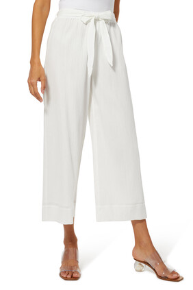Vacation Cotton-Blend Culottes