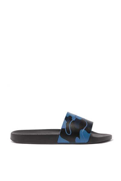 Valentino Garavani Camouflage Rubber Slides