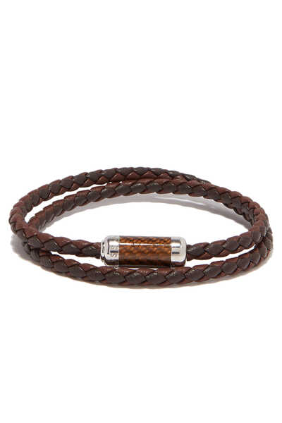 Montecarlo Carbon Leather Bracelet