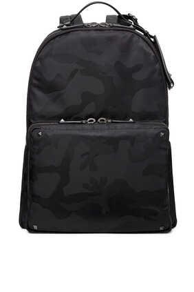 Tonal Camouflage Nylon Backpack