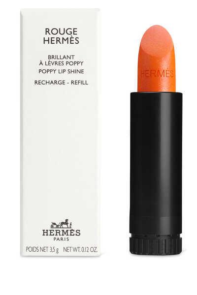 Rouge Hermès, Poppy lip shine refill