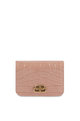 BB Croc-Embossed Mini Wallet